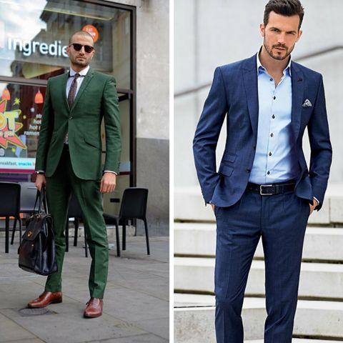 Mavi ya da yeşil? #suit #green #blue