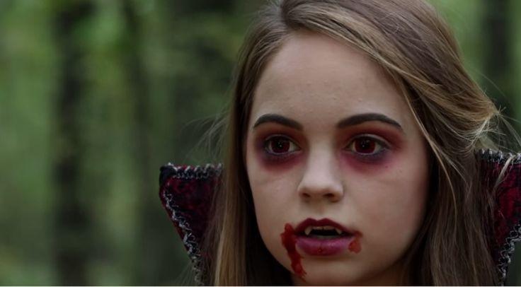 vampire make-up look for halloween