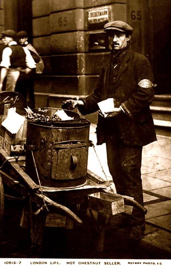 London, Hot Chestnut Seller - an early photo