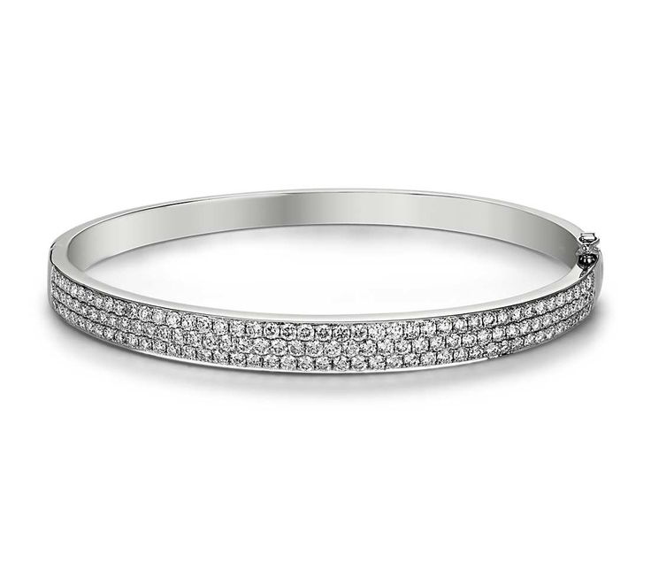 Trio Diamond Bangle in 14k White Gold   Your chance to win a $1000 gift card from #BlueNile!