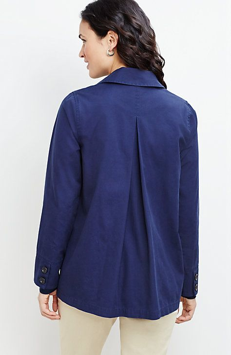 double-breasted canvas jacket