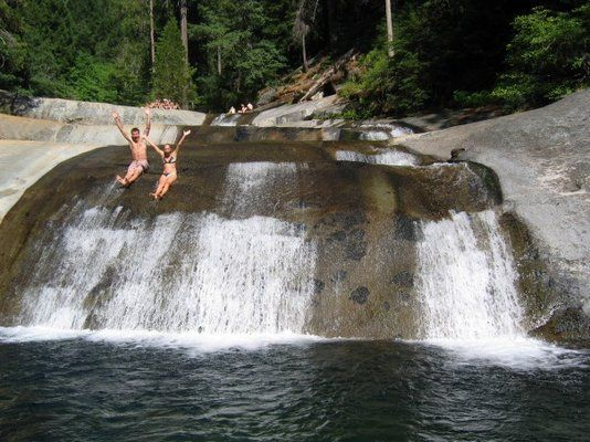 University Falls, Quintette, CA - Northern California waterfalls / swim holes