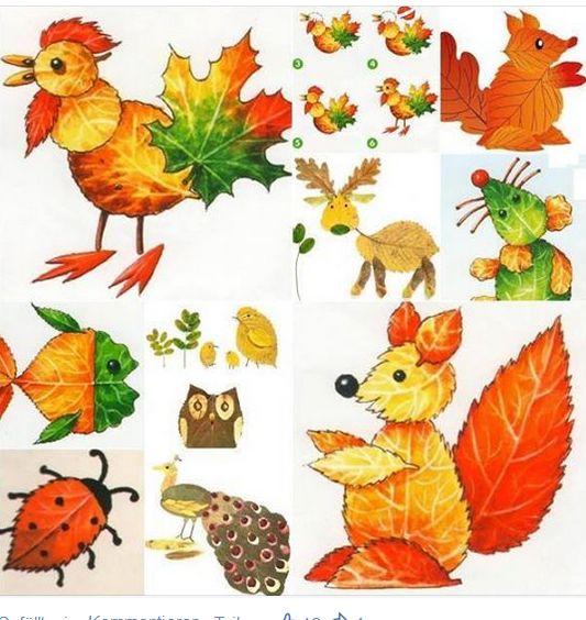 Blätter sammeln...und basteln mit Kinder