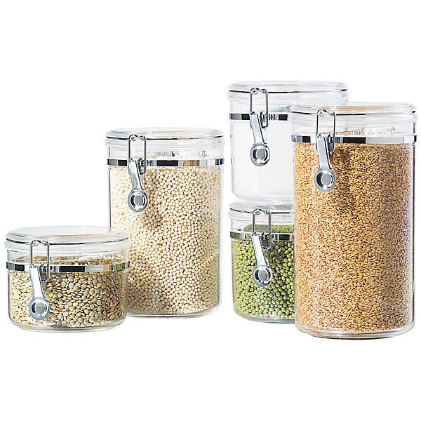Acrylic Food Storage Containers Part - 25: Canister Sets, Containers Acrylic, Home Kitchens, Acrylic Food, Cucina  Acrylic