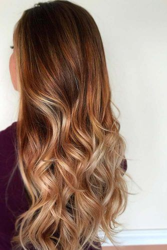 Caramel Ombre Hair Color for Brunettes 3