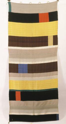 Anni Albers (American, b. Germany, 1899-1994). Wall Hanging, 1925. Wool and silk. 92 7/8 x 37 3/4 in. (236 x 96 cm). Die Neue Sammlung - The International Design Museum, Munich. Photo: Archive Die Neue Sammlung.