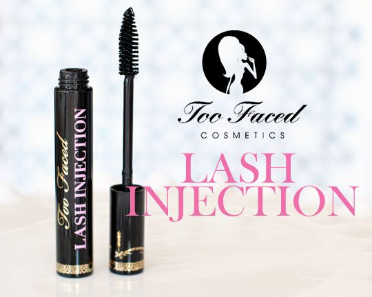 Too Faced cosmetics lash injection extreme volume tubing mascara - tubing mascaras are particularly great for humid climates as they resist flaking and smudging