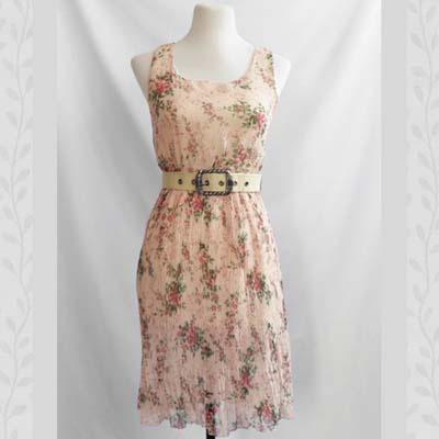 Tea Rose Chiffon Dress