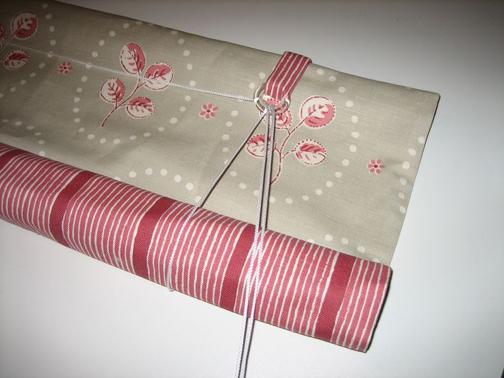 A Swedish blind in Vanessa Arbuthnott fabrics, with handmade glass rings