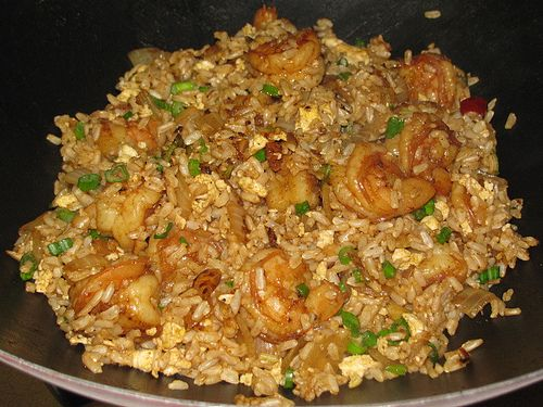 A lower fat recipe for Shrimp Fried Rice - 8 WW points+ for 1-1/2 Cup serving!