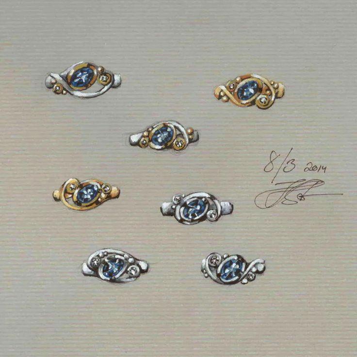 #gouache #jewelrydrawing #weddingsrings #engagementrings #weddingjewellery #diamondrings #goldrings #