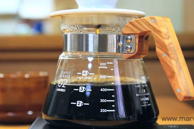 HARIO コーヒーサーバー600オリーブウッド(1~5杯用) VCWN-60-OV - marve (マーヴェ) ナチュラルモダン雑貨 通販 キッチン テーブルウェア インテリア