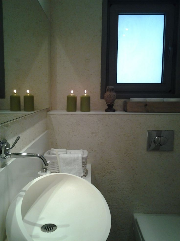 A luxury guest toilet. Spoil your guests with design, nice aroma, candels and soft towels