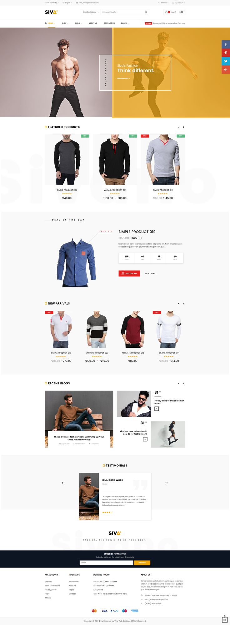 VG Siva is a creative, minimalist responsive #WooCommerce #WordPress themespecifically designed to adapt its display according to the device in use. It's packed with great features you can customize according to your brand. #design #wesite #theme