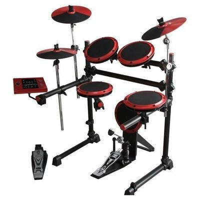 Great for practicing at home - NEW DDRUM 5 PIECE DD1 DIGITAL ELECTRONIC DRUM SET ELECTRIC KICK SNARE CRASH KIT. Chicago Bull colors, love it.