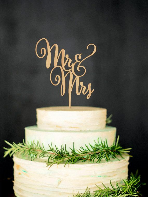 Mr Mrs Wedding Cake Topper Wood letter topper by WeddingRusticDeco