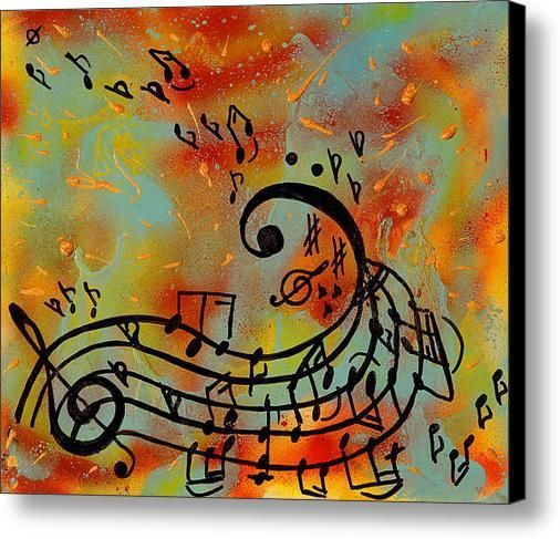 40''Music notes painting, musical notes wall decor, Abstract music art print, teenage gift, Kids room decor, Print on Canvas, Large Art by juliaapostolova. Explore more products on http://juliaapostolova.etsy.com