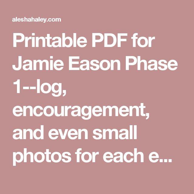 Jamie Eason Printable Food List