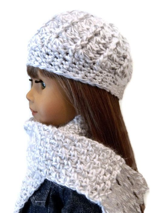 American Girl Doll Clothes - Crochet Hat and Scarf Set