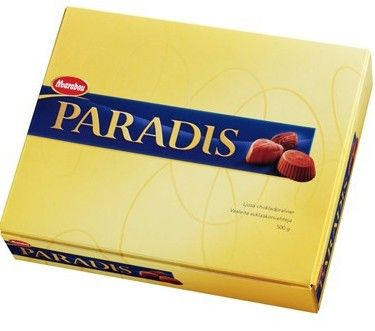 This box contains two layers whit only light lovely chocolate pralines from Marabou. The perfect gift!