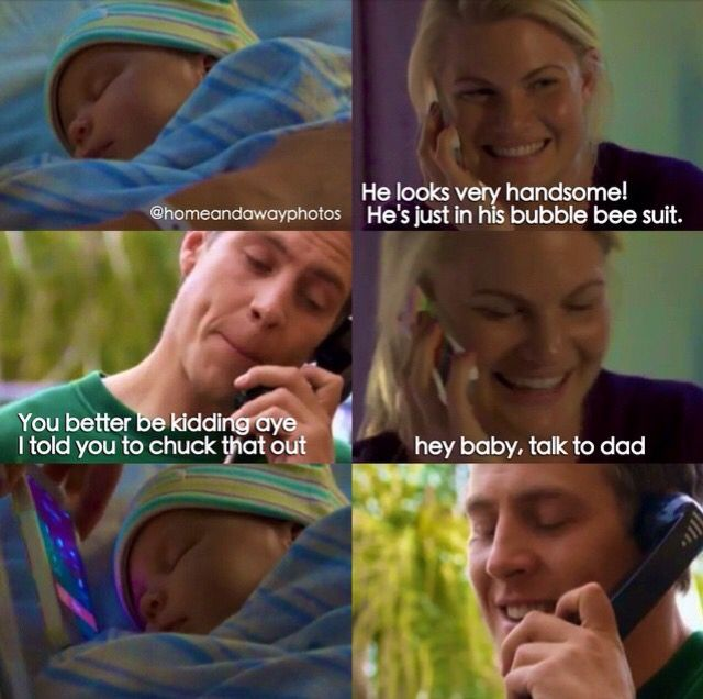 Brax Ricky and their baby