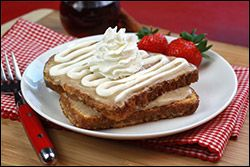 Hungry Girl's Gooey-Good Cinnamunch French Toast (Healthier version of IHOP's CINN-A-STACK French Toast)
