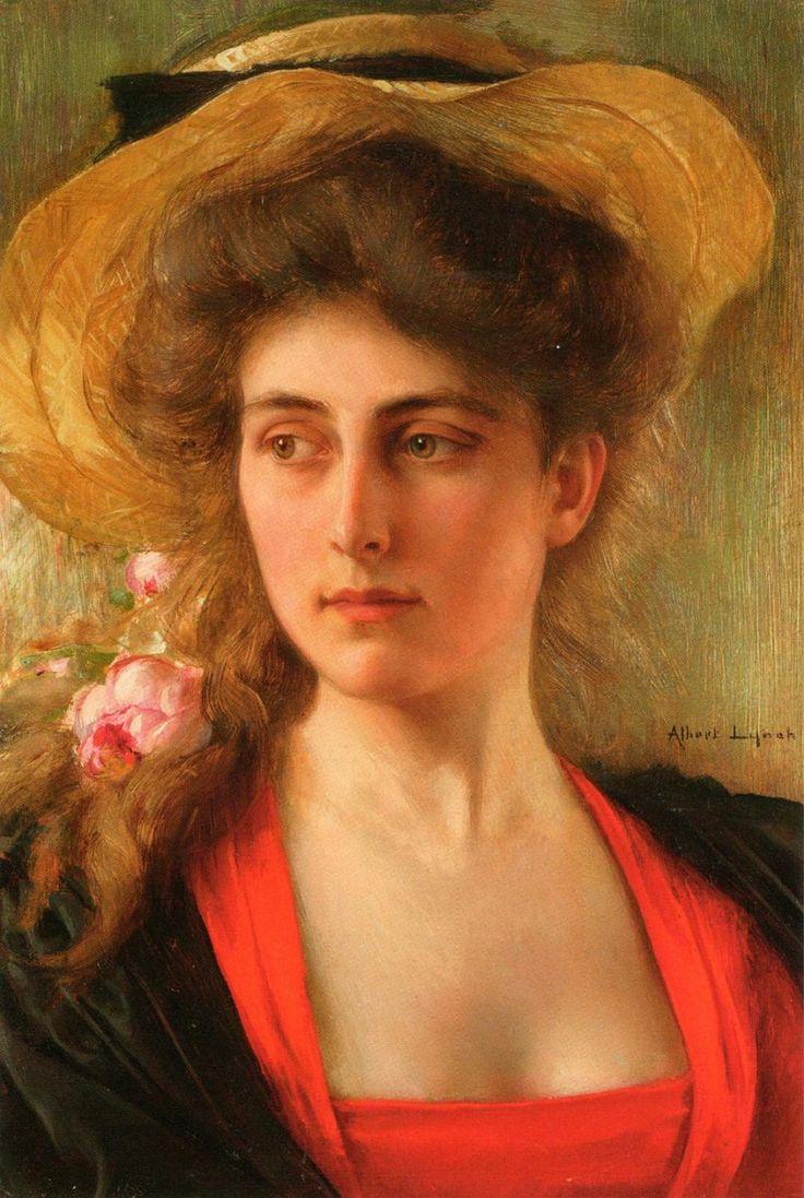 Peinture Tête de Femme' - Albert Lynch