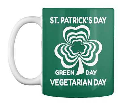St Patrick's Day Forest Green Mug Front