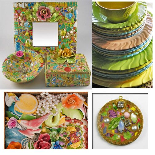 Mosaic Lifestyle by Melissa Miller: Learn How to Make Mosaics - Create your own Pique Assiette mosaic bowls, boxes, mirrors and more. ($10 e-book)