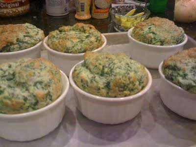 Spinach and Goat Cheese Souffle from Gordon Ramsey - making these for dinner tonight!