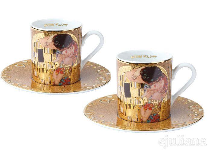 Set cești de cafea porțelan Espresso Gustav Klimt