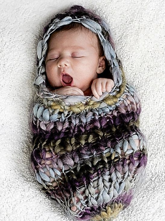 baby cocoon. I repinned this purely because the baby is adorable