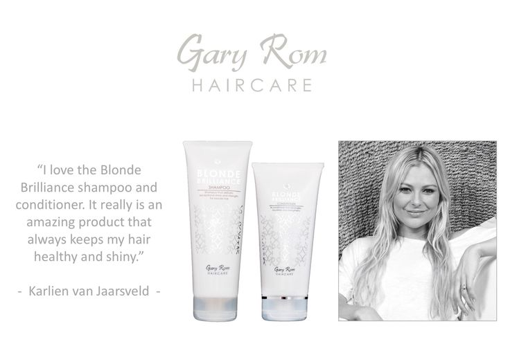 Gary Rom Haircare - loved and adored by Karlien van Jaarsveld. To order yours visit: www.garyromhaircare.co.za
