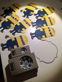 Minions with Stampin up #stampinup#minions#punchart