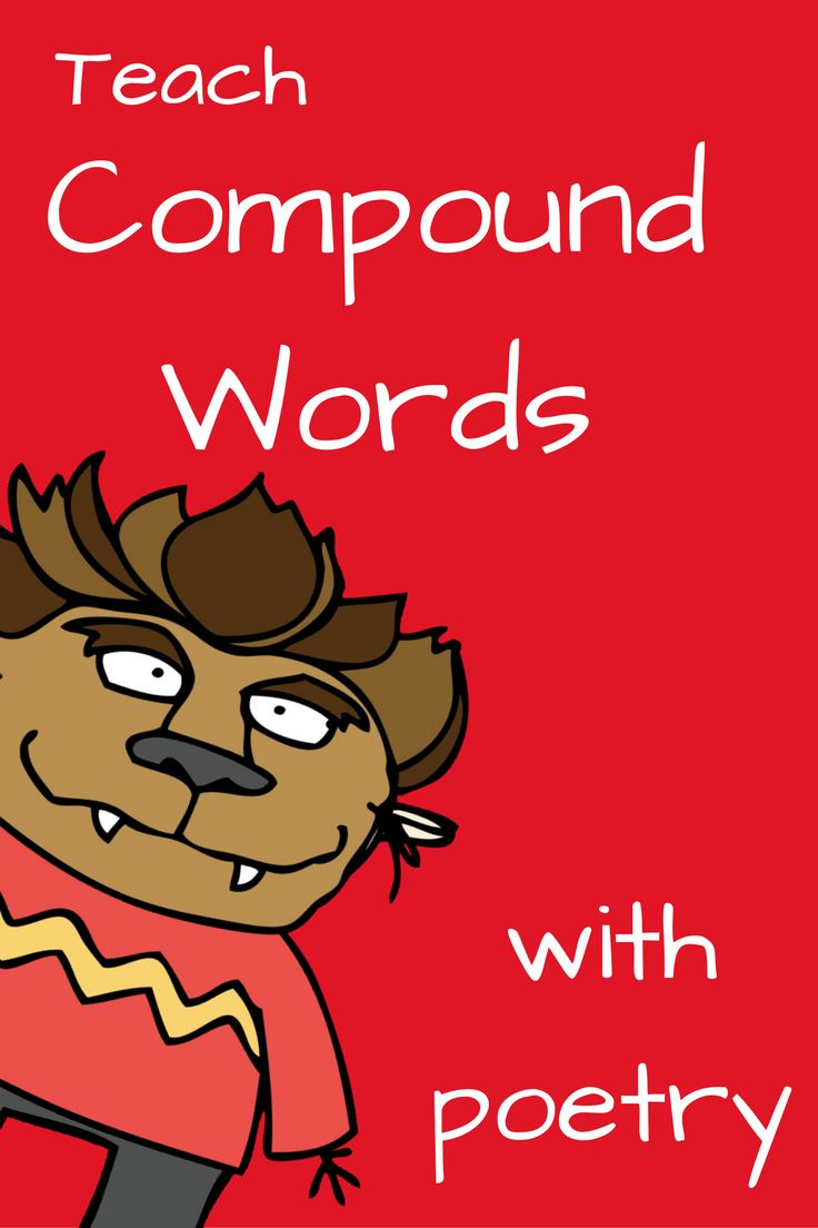 Kindergarten Poetry Book Cover : Best compound words images on pinterest