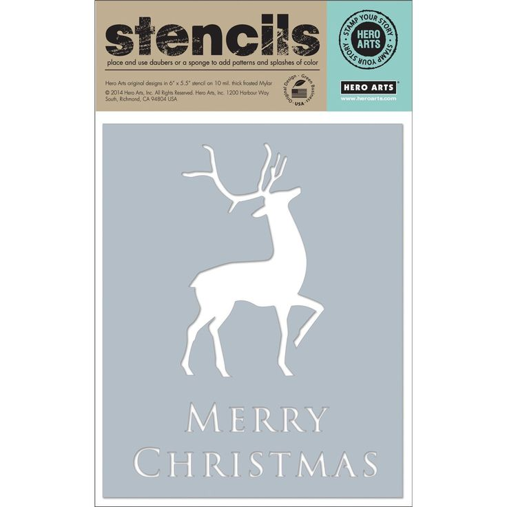 Amazon.com: Hero Arts Scrapbooking Stencils, Merry Christmas Reindeer