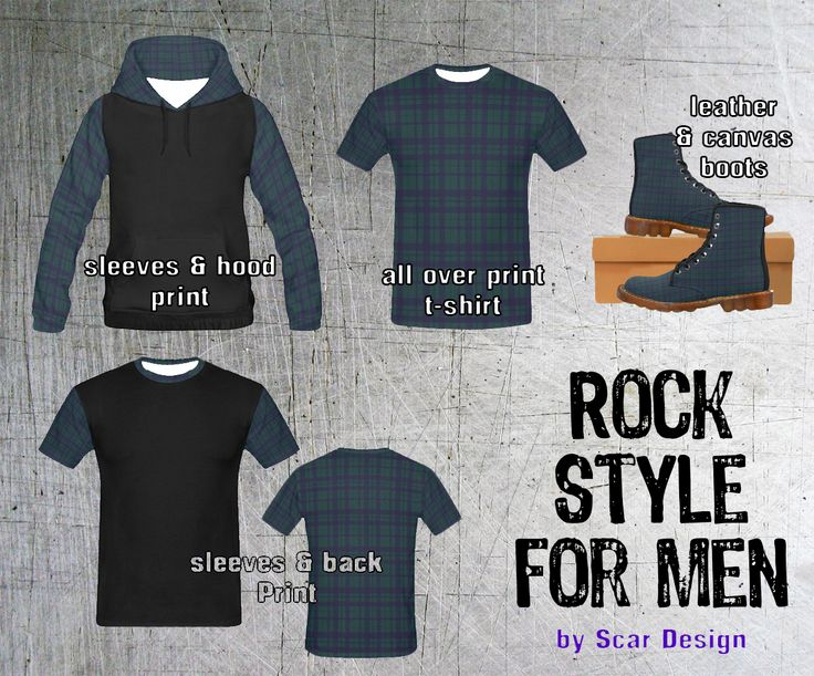 Rock Style for Men by Scar Design http://bit.ly/2qZ85e0  #rock #style #clothing #boots #plaid #mensfashion #rock #style #gifts #rockgifts #plaidtshirt #plaidhoody #punkboots #rockboots