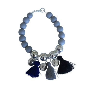 Tropicana Tassel Bracelet - Grey