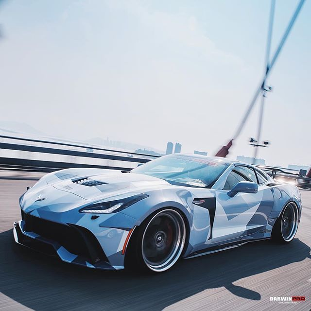 Winter is coming. @darwinproaero X Corvette wide body Follow for more builds ! [ @dpjack_ & @darwinproaero ]  Follow [ @dpjack_ & @darwinproaero ] #darwinpro #corvette #c7 #stingray #z51 #widebody [ edited by @carlifestyle ]