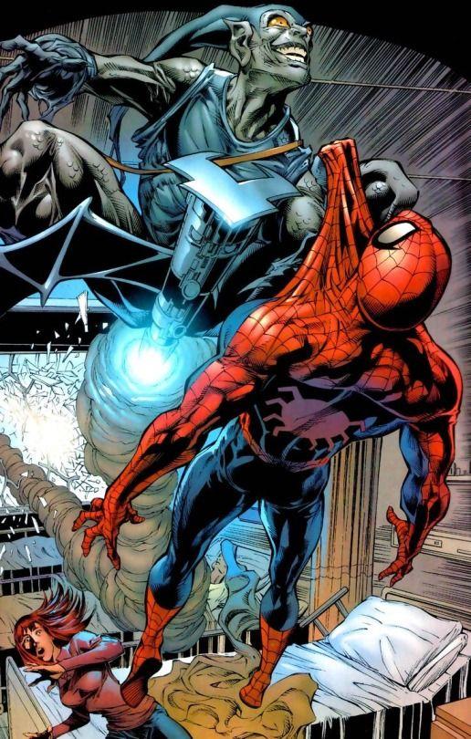 Spider-man vs Gray Goblin by Mike Deodato Jr