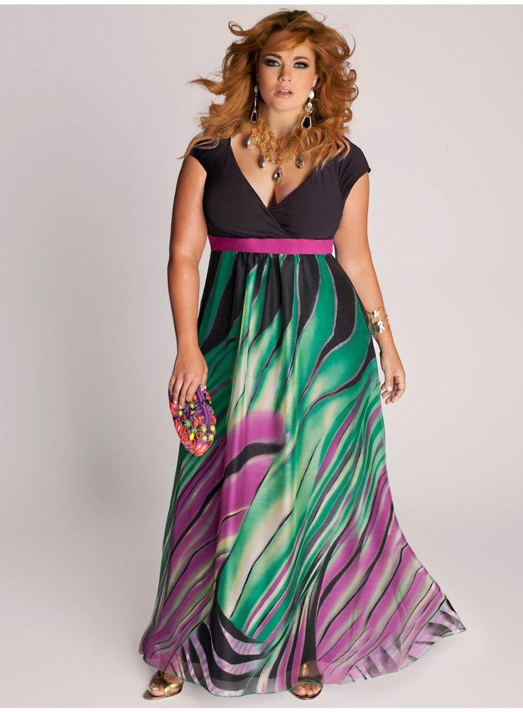 Modernos vestidos largos para gorditas