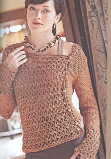 linda blusa em croche♪ ♪ ... #inspiration_crochet #diy GB