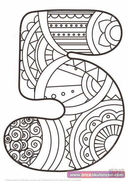 Mandala Sayı Boyamaları Detay Boyama Eğitim Pinterest