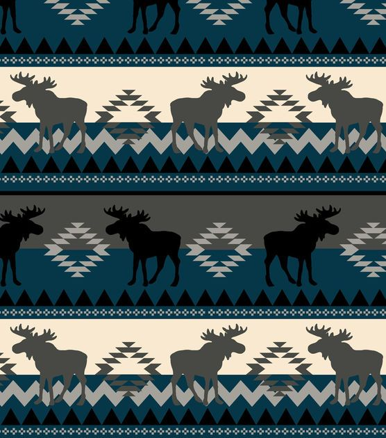 Anti Pill Fleece Fabric Aztec Moose Fleece Fabric Pills