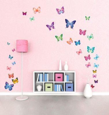 Muurstickers en raamstickers 30 vrolijke vlinders