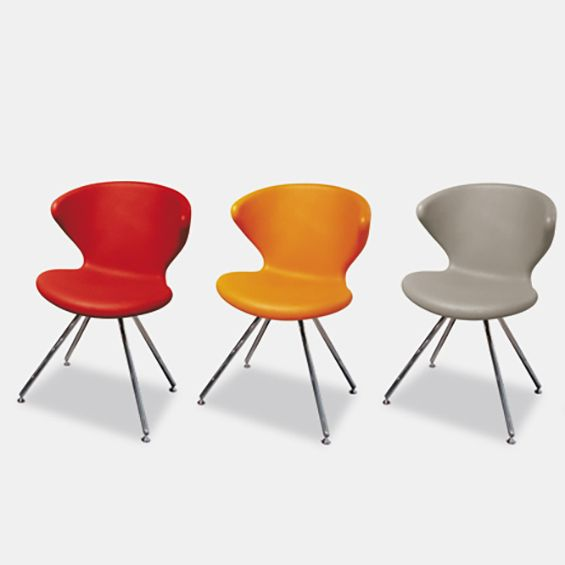 Concept 902.01, Chairs With Seats In Integral Solid Foam (red, Orange, Gray