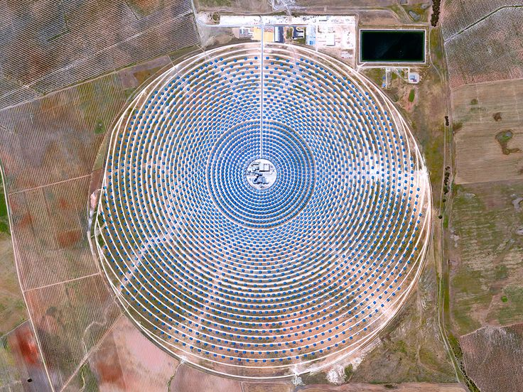 Beautiful, Troubling Photos Show Our Planet as Astronauts See It | Gemasolar Thermosolar Plant, Seville, Spain   Benjamin Grant/DigitalGlobe  | WIRED.com