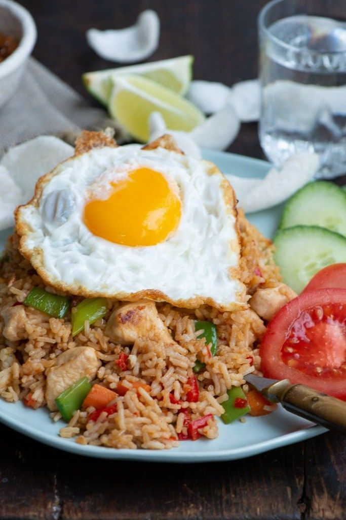 Opskrift Pa Nasi Goreng Indonesisk Fried Rice Opskrift Asiatiske Opskrifter Madopskrifter Nasi Goreng
