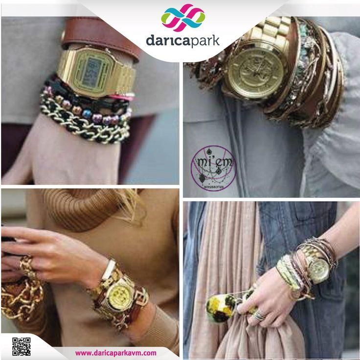 Saatlerinizle konbin yapabileceğiniz birbirinden şık bileklikler #DarıcaParkAVM 2. kat Miem Accessories'da.