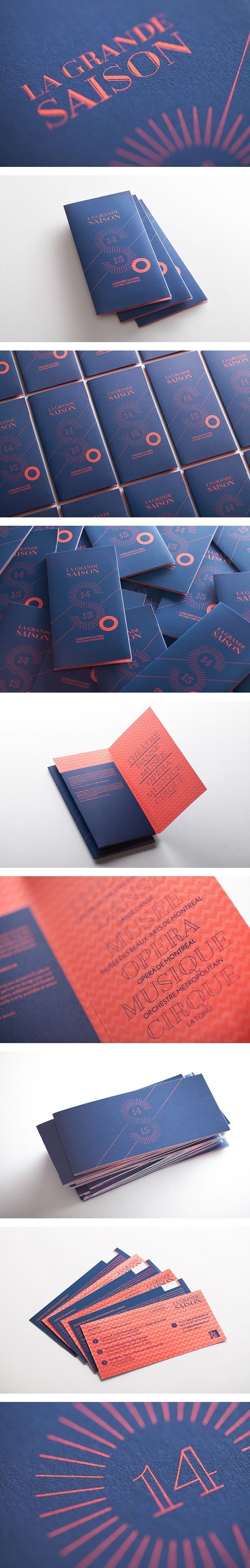 I like the combination of orange and blue, with a but of a luxury feel La grande…